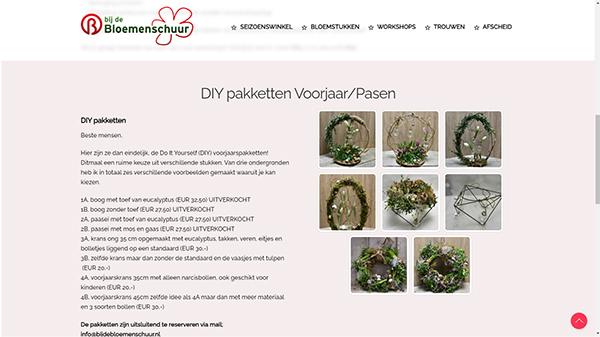 Bij de bloemenschuur Steenbergen Drenthe
